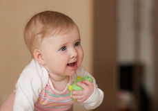 Portrait of a happy baby Stock Images