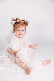 Portrait of a happy baby girl Royalty Free Stock Photography
