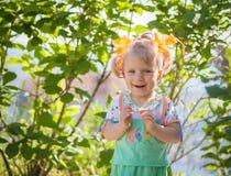 Portrait of happy baby girl. Stock Photo