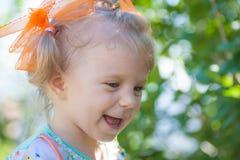 Portrait of happy baby girl. Stock Photos