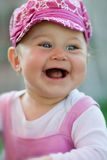 Portrait of happy baby laughing Stock Photography