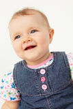 Portrait of happy baby in studio Stock Photos