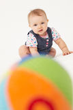 Portrait of happy baby in a studio Royalty Free Stock Photography