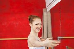 Portrait Of Happy Ballet Dancer Performing In Studio Royalty Free Stock Photos