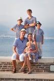 Portrait of Happy beautiful family near  sea Stock Photography