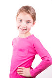 Portrait of a happy beautiful little girl smiling Stock Images