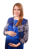 Portrait of happy beautiful pregnant woman Stock Photos