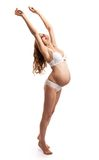Portrait of happy beautiful pregnant woman Royalty Free Stock Images