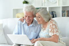 Portrait of happy beautiful senior couple Stock Image