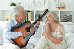 Portrait of happy beautiful senior couple Royalty Free Stock Photo