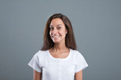 Portrait of a happy beautiful woman Royalty Free Stock Photography