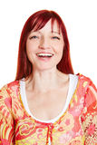 Portrait of happy best ager woman Stock Photography