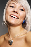 Portrait of happy blond Royalty Free Stock Images