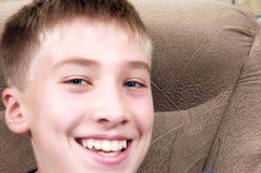 Portrait of the happy boy Stock Photos