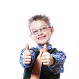 Portrait of happy boy showing thumbs up Royalty Free Stock Photography