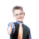 Portrait of happy boy showing thumbs up Royalty Free Stock Images