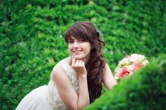 Portrait of happy bride Royalty Free Stock Photos
