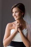 Portrait of a happy bride Royalty Free Stock Photos