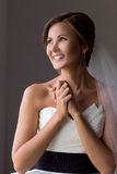 Portrait of a happy bride Royalty Free Stock Image