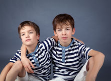 Portrait of happy brothers Royalty Free Stock Photo