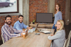 Portrait of happy business colleagues in office Stock Image