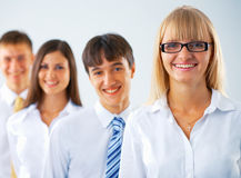 Portrait of happy business group Royalty Free Stock Photography