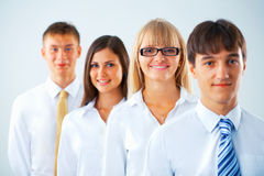 Portrait of happy business group Royalty Free Stock Image