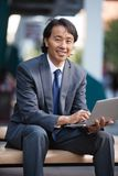 Portrait of Happy Business Man Outdoors Royalty Free Stock Photography
