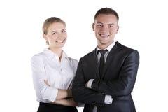 Portrait of happy business people at studio Stock Image