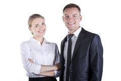 Portrait of happy business people at studio Stock Photography