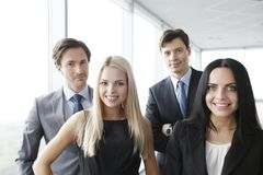 Happy business team portrait royalty free stock image