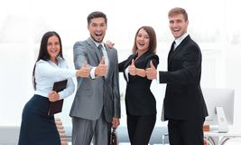 Portrait of happy business team Royalty Free Stock Photos