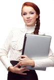Portrait of happy  business woma Stock Photo