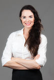 Portrait of happy business woman Stock Photography