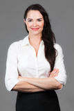 Portrait of happy business woman Stock Image