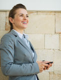 Portrait of happy business woman Stock Photo