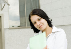 Portrait happy business woman Stock Image
