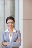 Portrait of happy business woman Stock Image