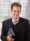 Portrait of happy businessman Stock Images