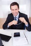 Portrait of happy businessman Royalty Free Stock Photos