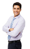 Portrait Of Happy Businessman With Arms Crossed Stock Images