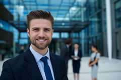 Portrait of happy businessman Stock Photos
