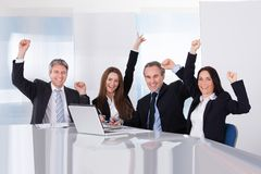 Portrait of happy businesspeople Stock Photos