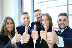 Portrait of happy businesspeople Stock Images