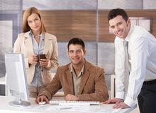 Portrait of happy businessteam Royalty Free Stock Photography