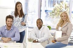 Portrait of happy businessteam Stock Photos