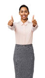Portrait Of Happy Businesswoman Showing Thumbs Up Royalty Free Stock Photography