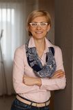 Portrait of happy businesswoman Stock Photos
