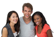 Portrait of happy casual young people Royalty Free Stock Images