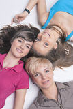 Portrait of Happy Caucasian Girls Wearing Teeth Braces Royalty Free Stock Photo